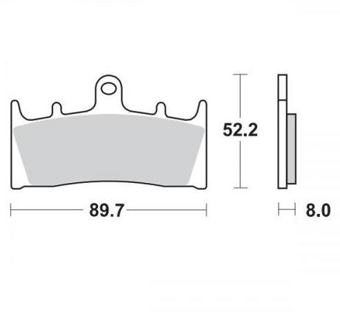 Moto-Master Remblokken Voor Sinter 403601