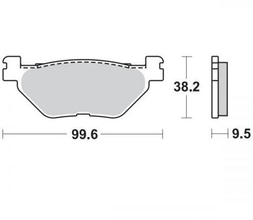 Moto-Master Remblokken Achter Sinter 405802