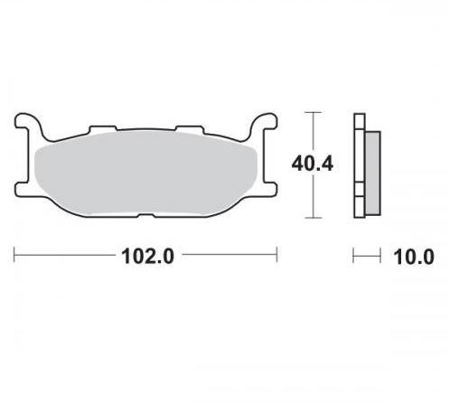 Moto-Master Remblokken Voor Ceramic 409804