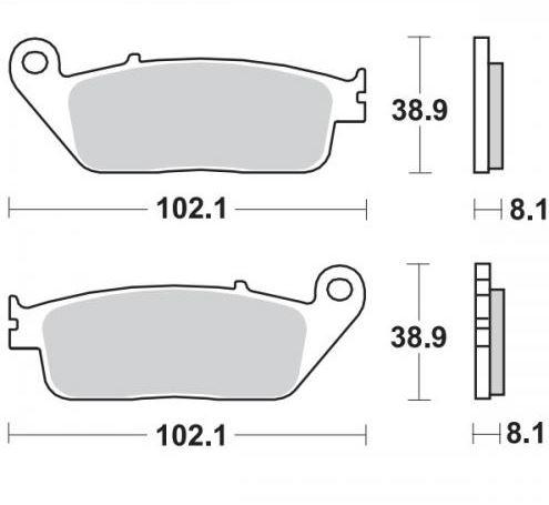 Moto-Master Remblokken Voor Sinter 402501
