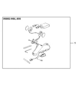 Honda Headset Kit 08B82-MBL-800
