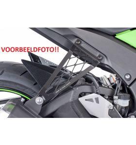 Puig Uitlaatsteun Zwart Kawasaki ZX6-R (03-04)