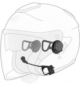 Sena 10U Bluetooth Headset, Shoei J-Cruise