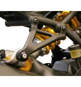 Uitlaatsteun aluminium zwart Evotech Performance Ducati M821 '18-