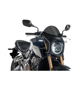 Puig Retro Semi Fairing Zwart Honda CB650R (19-)