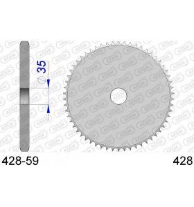 AFAM Tandwiel Achterzijde Aluminium - Blank - 428