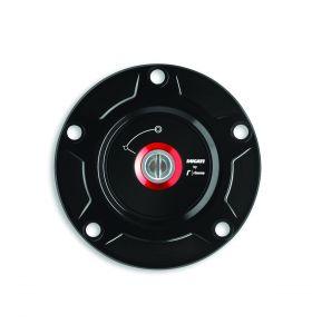 Ducati/Rizoma Tankdop Billet Aluminium Zwart Panigale V2/V4