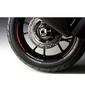 Suzuki Velgsticker 17 Inch Achterwiel Rood