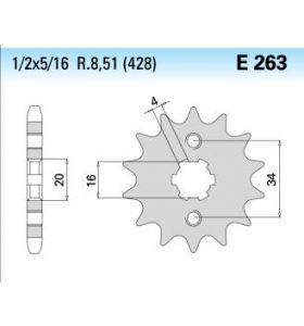 Chiaravalli Tandwiel Voor E263/K-14