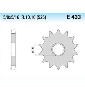 Chiaravalli Tandwiel Voor E433/K-14