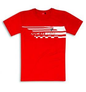 Ducati Corse Red Check T-Shirt