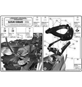 GIVI SR116 Topkofferrek Monokey Suzuki GSR 600 (06-11)