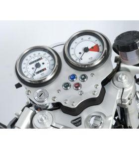 R&G IF0002SI Dashboard Cover Zilver Triumph THRUXTON 08-14 CLIP-ON Stuur