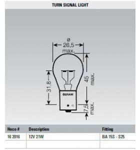 Osram Lamp 12V 21W