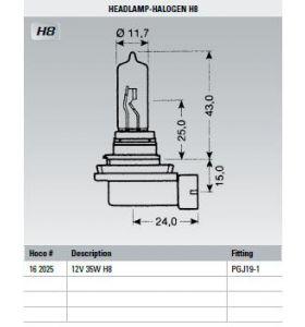 Osram Lamp 12V 35W H8
