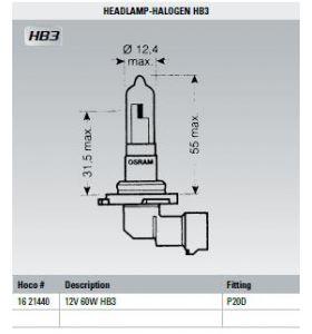 Osram Lamp 12V 60W HB3