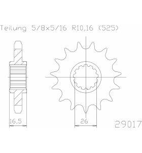 Esjot Tandwiel Voor 15T - 525