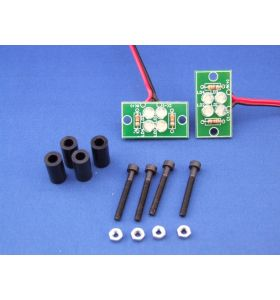 MotoTronix Hi-Bright LED's Set Op Printplaat 12V