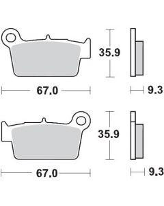 Moto-Master Remblokken Achter Carbon 094511