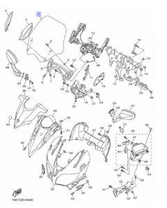 Yamaha Windscherm FJR1300 1MC283810000