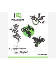 Kawasaki Kinder Tattoo Set