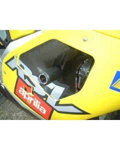 R&G CP0002BL Valdoppen Set Boven Zwart Aprilia RSV 1000 (01-03)