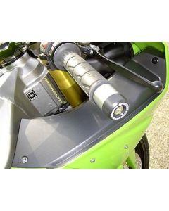 R&G BE0001BK Stuurdoppen Zwart Kawasaki'S, MOST MODELS
