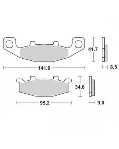 Moto Master Remblokken Ceramic 402104