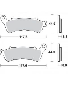Moto-Master Remblokken Voor Sinter 406501
