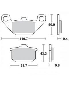 Moto Master Remblokken Ceramic 408404