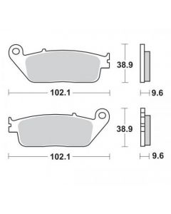 Moto-Master Remblokken Voor Ceramic 402504