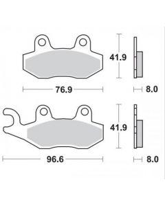 Moto-Master Remblokken Links Voor Ceramic 410504