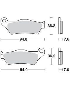 Moto-Master Remblokken Voor Carbon 093021