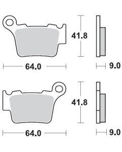Moto-Master Remblokken Achter Carbon 094411