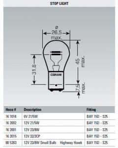 Osram Lamp 12V 21/5W