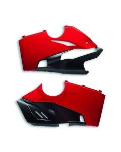 Ducati Onderkuip tbv Akrapovic Slip-on Rood Panigale V4