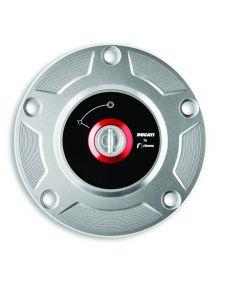 Ducati/Rizoma Tankdop Billet Aluminium Zilver Panigale V2/V5