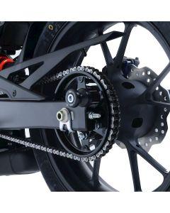 R&G CR0072BK Cotton Reels Bobbins Offset Zwart Honda CB125R 18- / CB300R 18-
