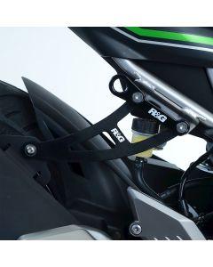 R&G EH0090BKA Uitlaatsteun met afdekplaat Zwart Kawasaki NINJA 125 / Z125 19-
