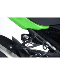 R&G EH0085BKA Uitlaatsteun met afdekplaat Zwart Kawasaki NINJA 400 / NINJA 250 18-