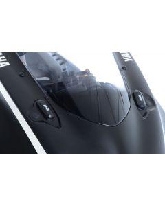 R&G MBP0028BK Spiegelafdekplaat set Zwart Yamaha YZF-R6 17-