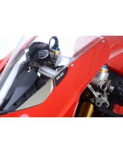 R&G MBP0032BK Spiegelafdekplaat set Zwart Ducati PANIGALE V4 / V4S