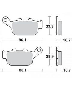 Moto-Master Remblokken Achter Ceramic 402204