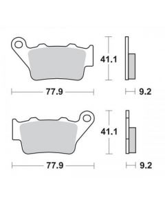 Moto-Master Remblokken Achter Ceramic 403404