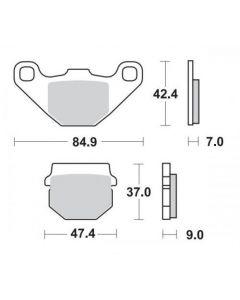 Moto-Master Remblokken Achter Ceramic 409904