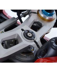 R&G YTI0011RE Kroonplaatmoer Dop Rood Ducati PANIGALE V4 / V4S