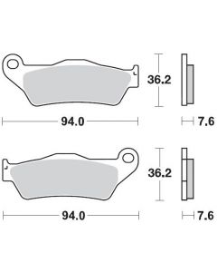 Moto-Master Remblokken Voor Carbon 093022