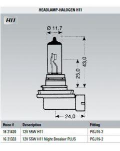 Osram Lamp 12V 55W H11