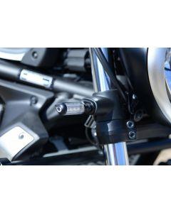 R&G FAP0009BK Knipperlicht Adapterplaat Aluminium voorzijde Set