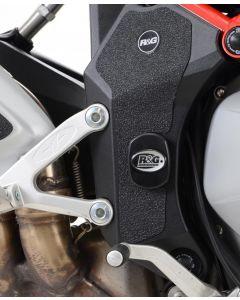 R&G FI0123BK Frame Plug 2 PCS Zwart MV AGUSTA BRUTALE 1090 13- /1090R /1090RR